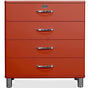MALIBU by Tenzo Commode 4 tiroirs larges - Rouge