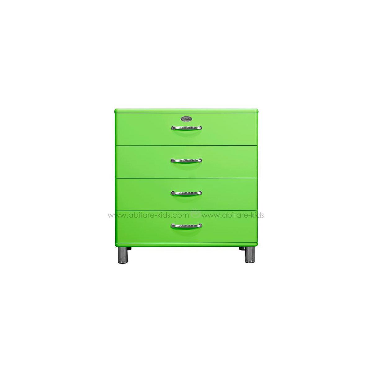MALIBU by Tenzo Commode 4 tiroirs larges - Vert