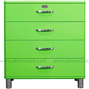 MALIBU by Tenzo Commode 4 tiroirs larges - Vert