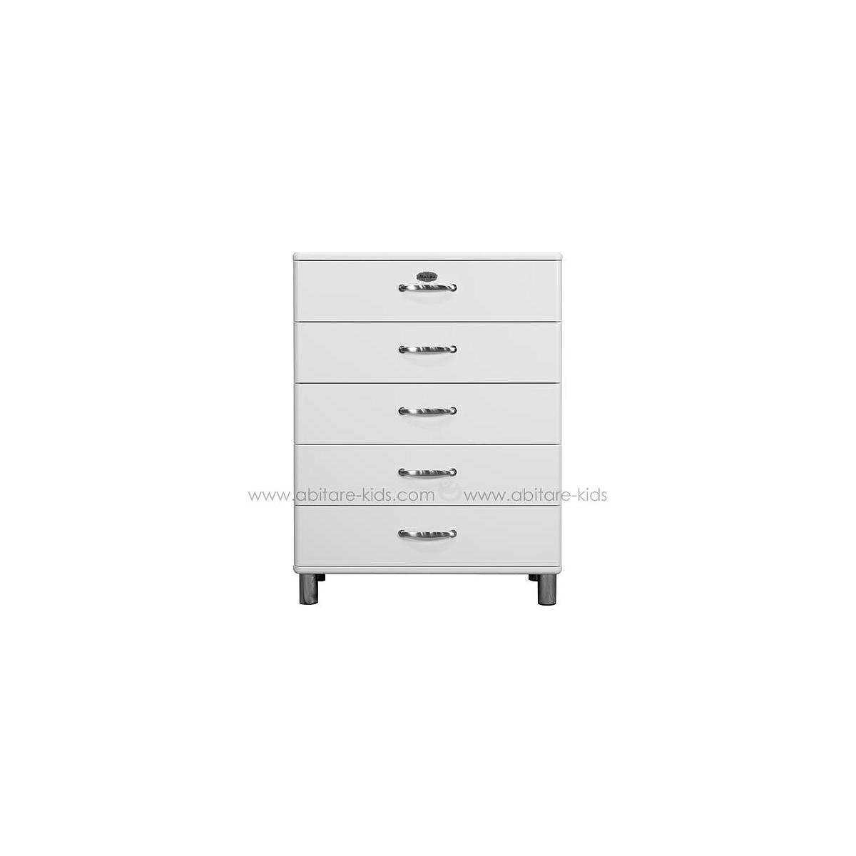 MALIBU by Tenzo Commode 5 tiroirs larges - Blanc