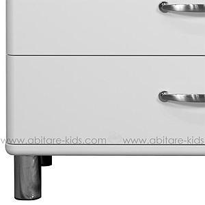 MALIBU by Tenzo Commode 5 tiroirs larges - Blanc