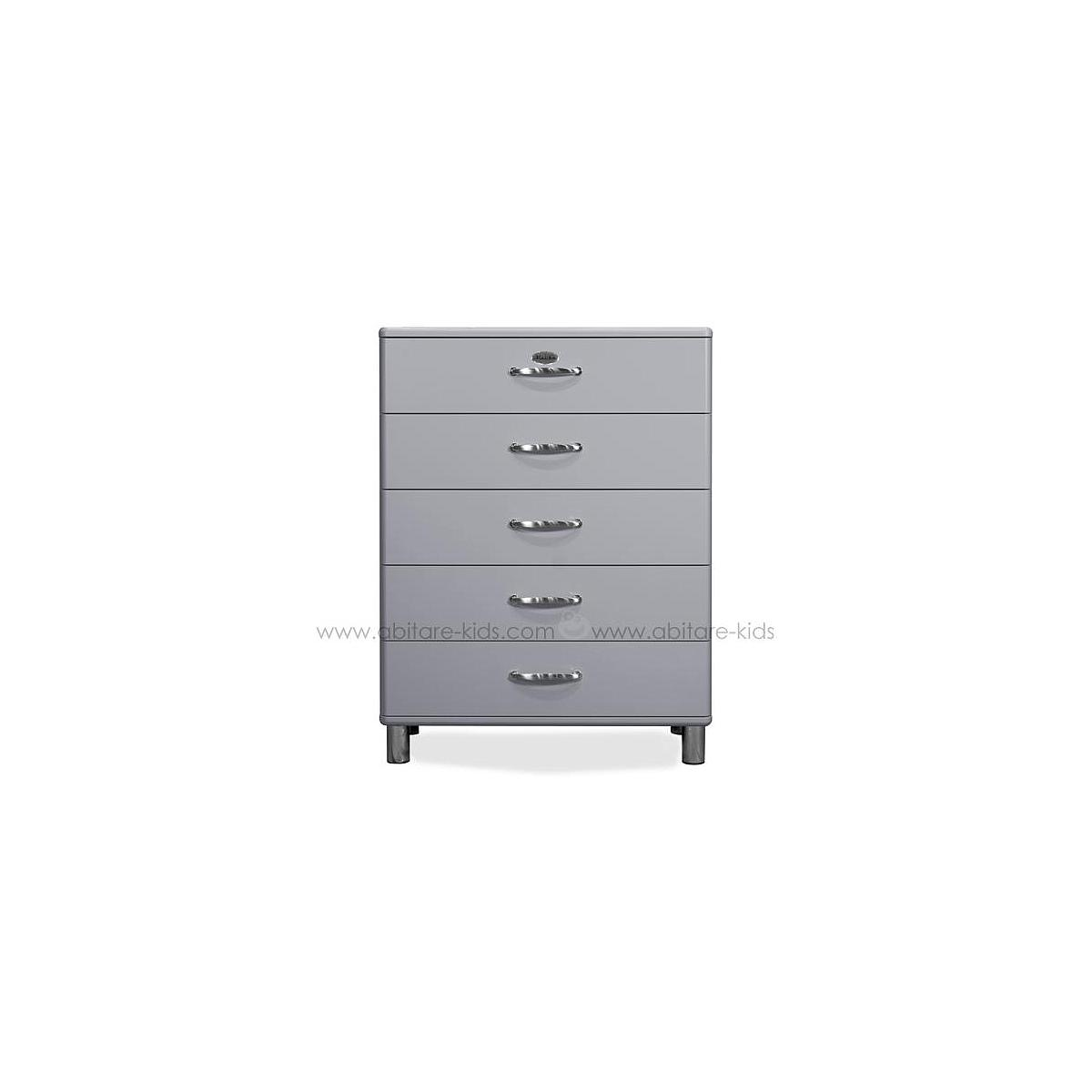 MALIBU by Tenzo Commode 5 tiroirs larges - Gris