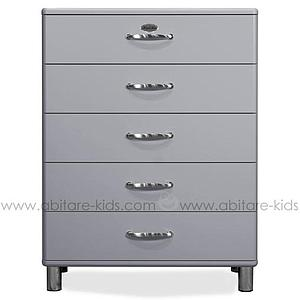 MALIBU by Tenzo Commode 5 tiroirs larges - Gris