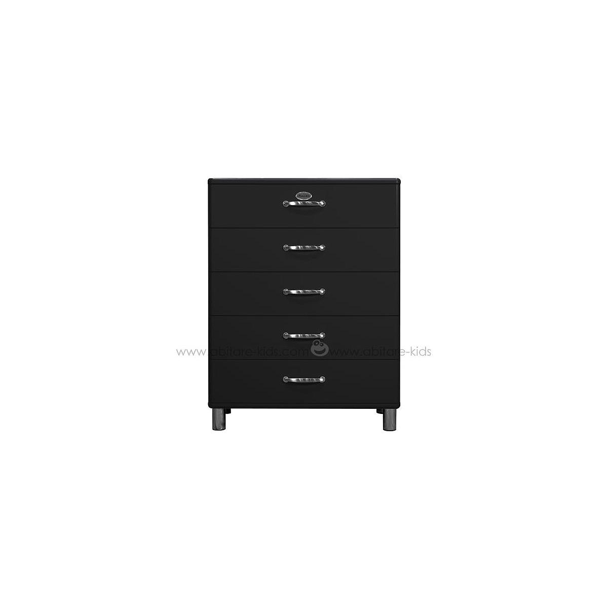 MALIBU by Tenzo Commode 5 tiroirs larges - Noir
