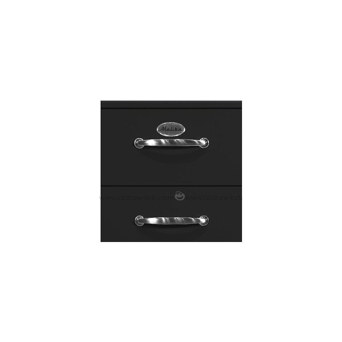 MALIBU by Tenzo Commode 5 tiroirs larges - Noir