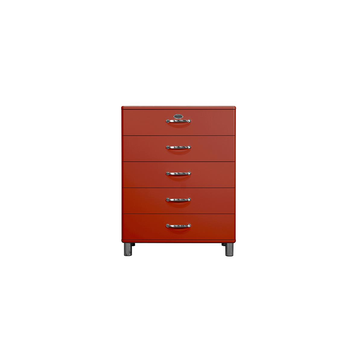 MALIBU by Tenzo Commode 5 tiroirs larges - Rouge