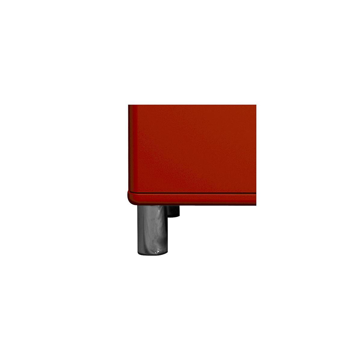 MALIBU by Tenzo Commode 5 tiroirs larges - Rouge