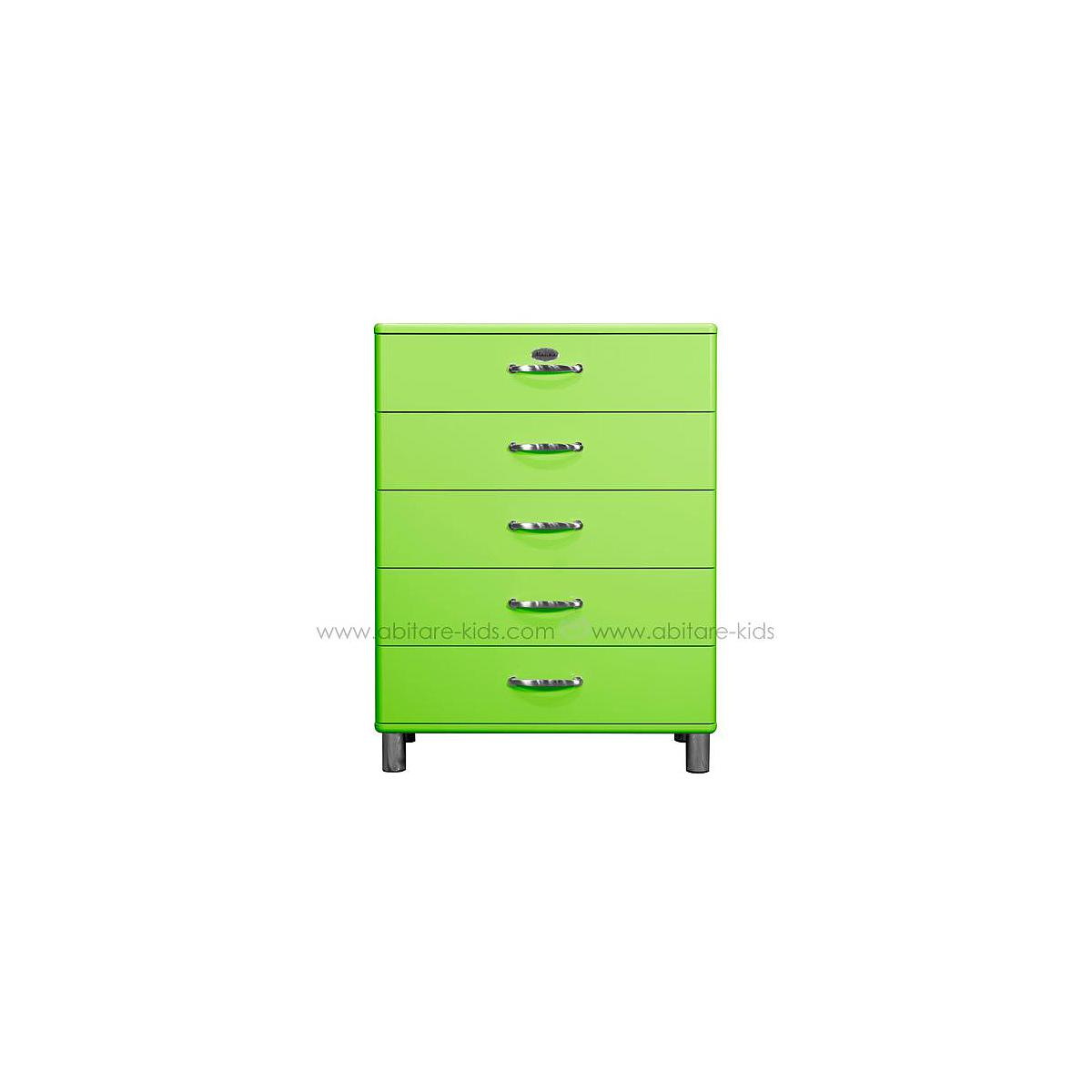 MALIBU by Tenzo Commode 5 tiroirs larges - Vert