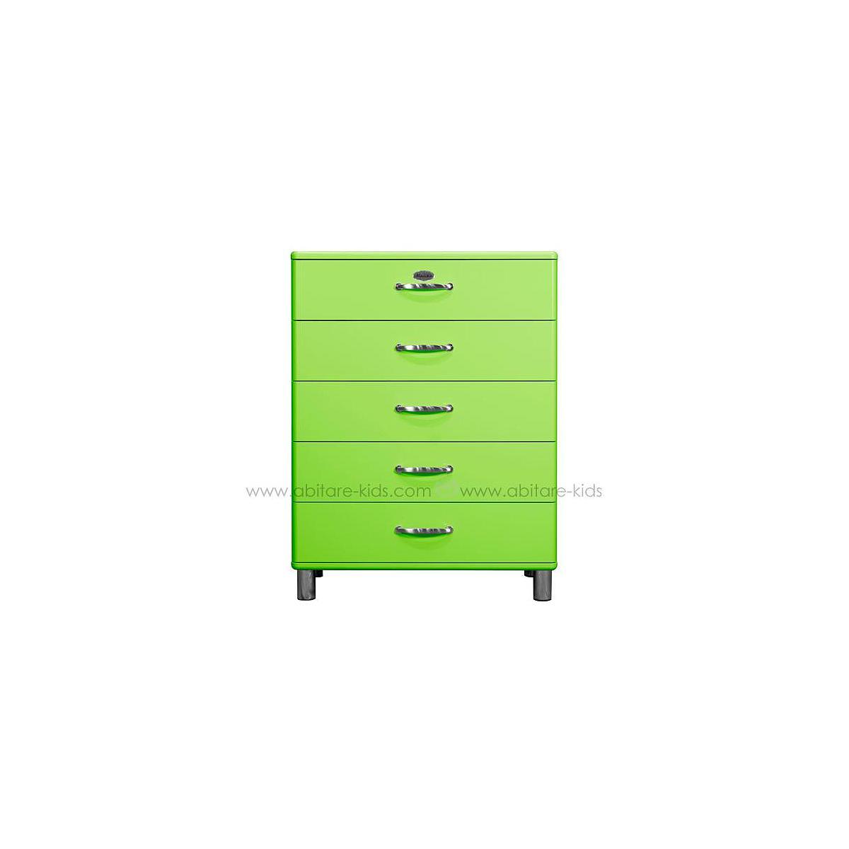 MALIBU by Tenzo Commode 5 tiroirs larges - Vert