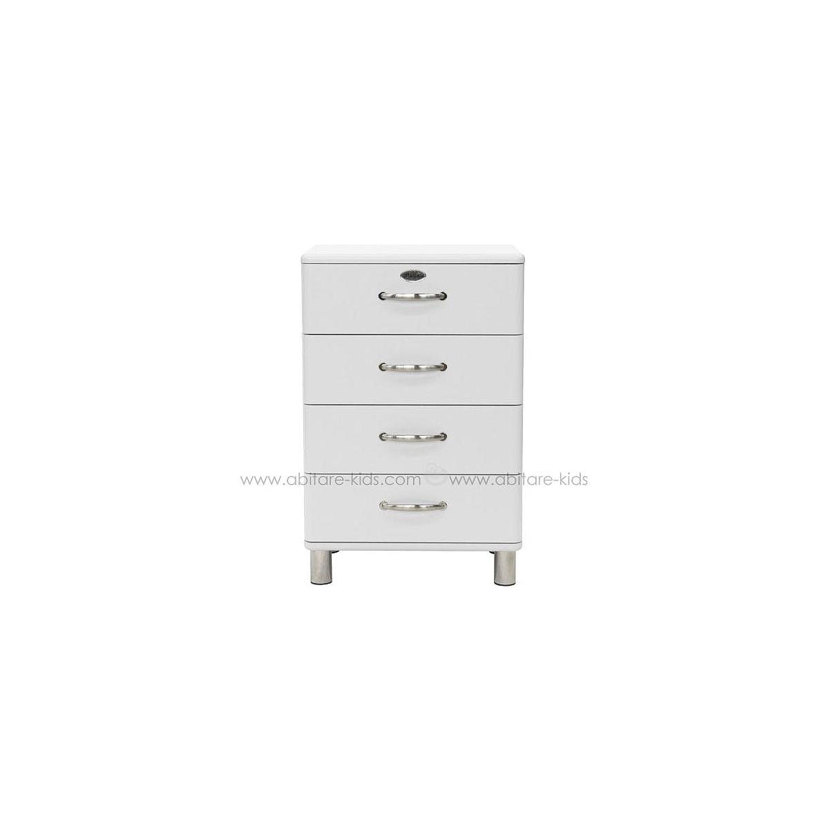 MALIBU by Tenzo Commode basse et large 4 tiroirs - Blanc