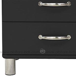 MALIBU by Tenzo Commode basse et large 4 tiroirs - Noir