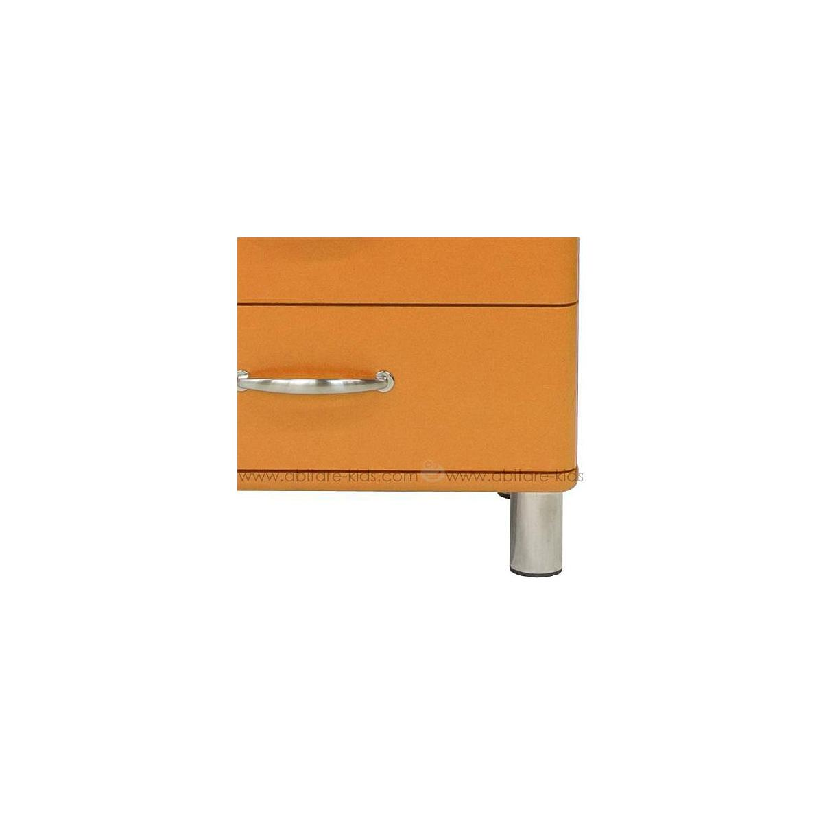 MALIBU by Tenzo Commode basse et large 4 tiroirs - Orange