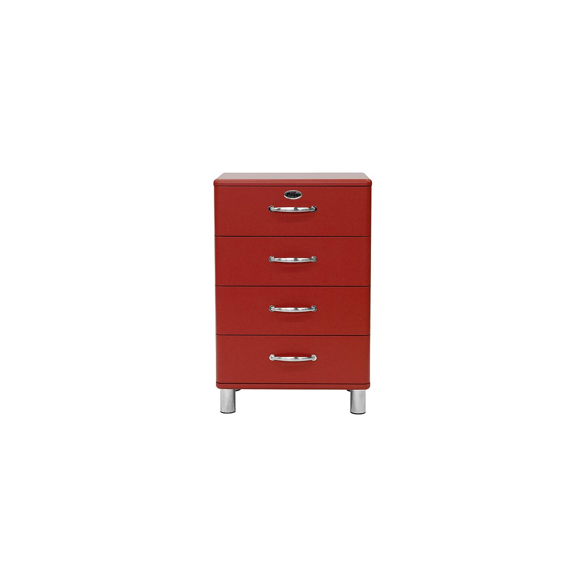 MALIBU by Tenzo Commode basse et large 4 tiroirs - Rouge