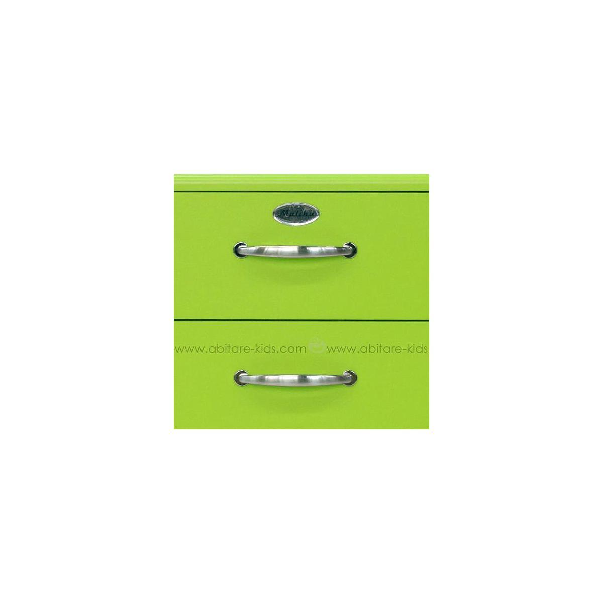 MALIBU by Tenzo Commode basse et large 4 tiroirs - Vert