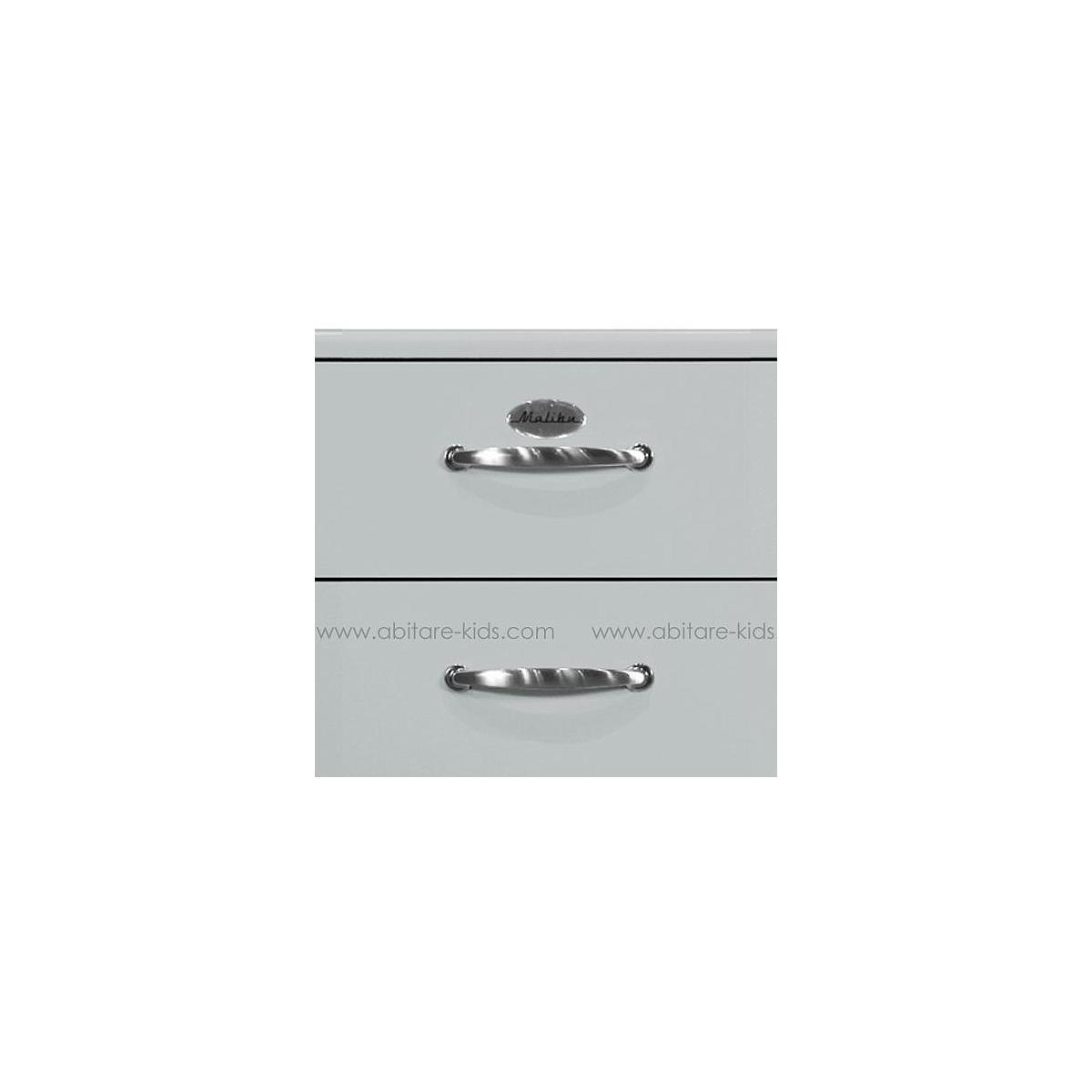 MALIBU by Tenzo Commode haute 5 tiroirs - Gris argenté