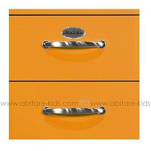 MALIBU by Tenzo Commode haute 5 tiroirs - Orange