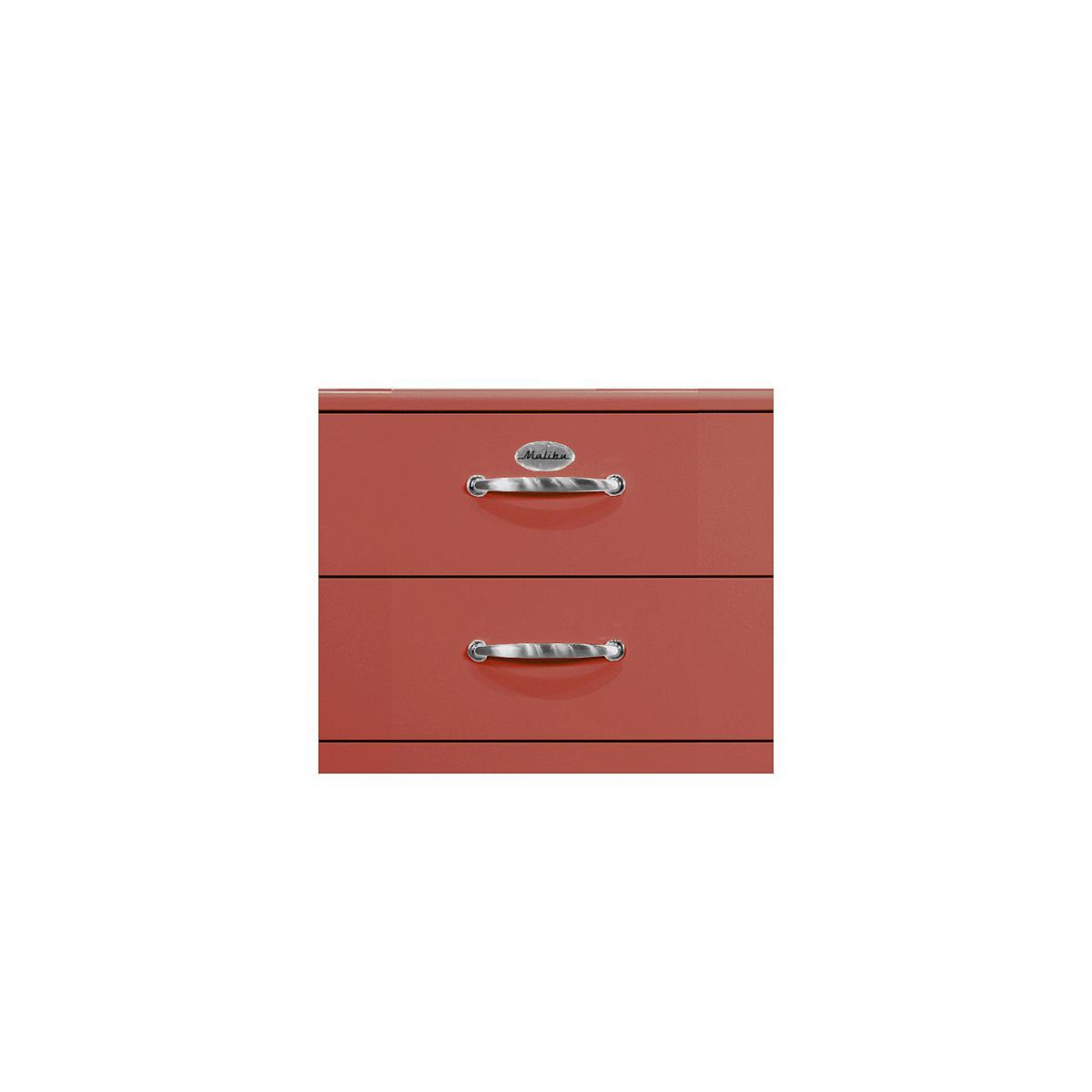MALIBU by Tenzo Commode haute 5 tiroirs - Rouge