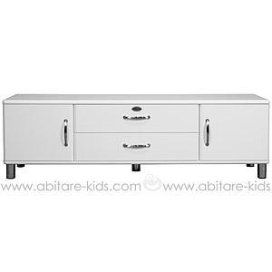 MALIBU by Tenzo Meuble TV 2 portes/ 2 tiroirs - Blanc