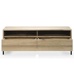 Meuble TV 140cm OAK LIGNA Ethnicraft black