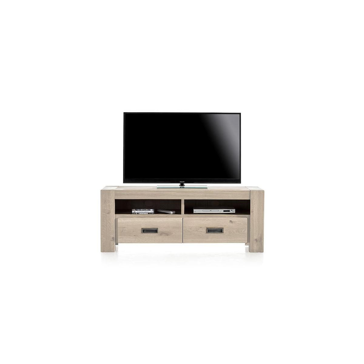 Meuble TV 140cm SANTORINI Henders & Hazel castle white
