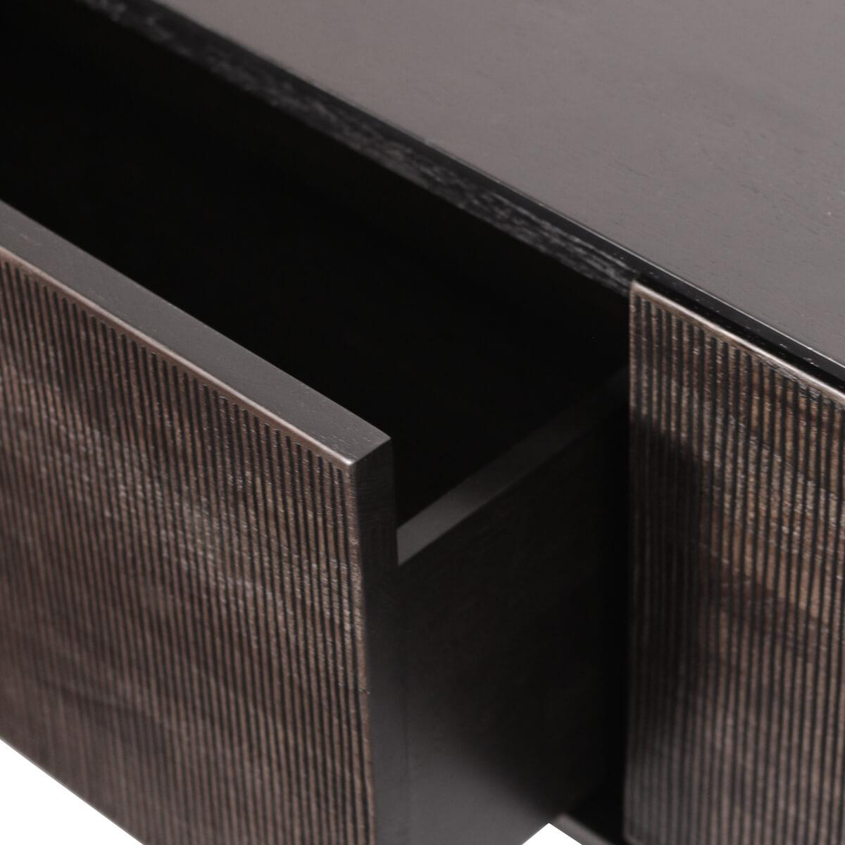 Meuble TV 162cm GROOVES Ethnicraft teck noir