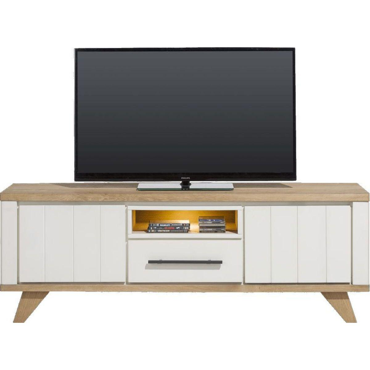 Meuble TV 170cm JARDIN Henders & Hazel blanc