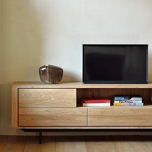 Meuble TV 224cm SHADOW Ethnicraft chêne