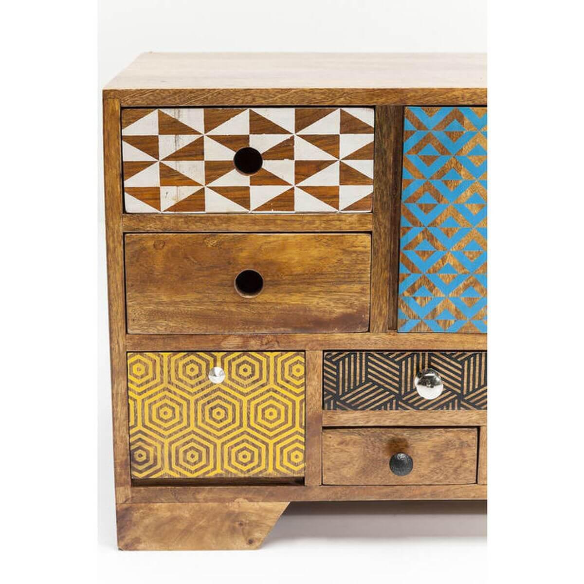 Meuble TV 3 portes 9 tiroirs SOLEIL Kare Design