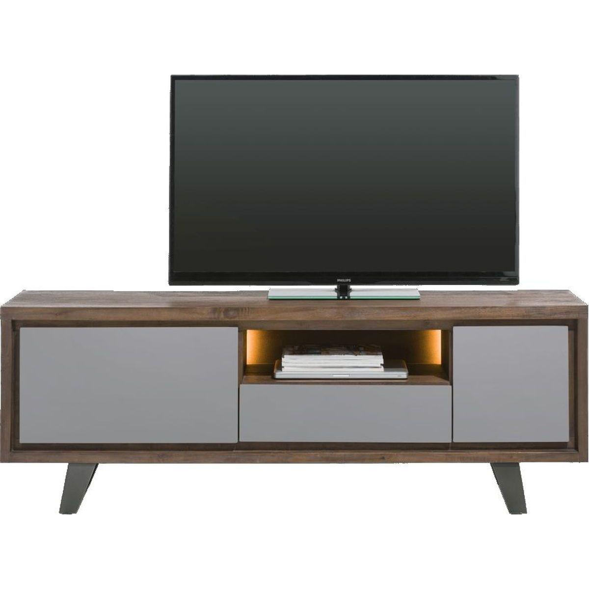 Meuble TV BOX Henders & Hazel 170cm Tramwood Walnut gris