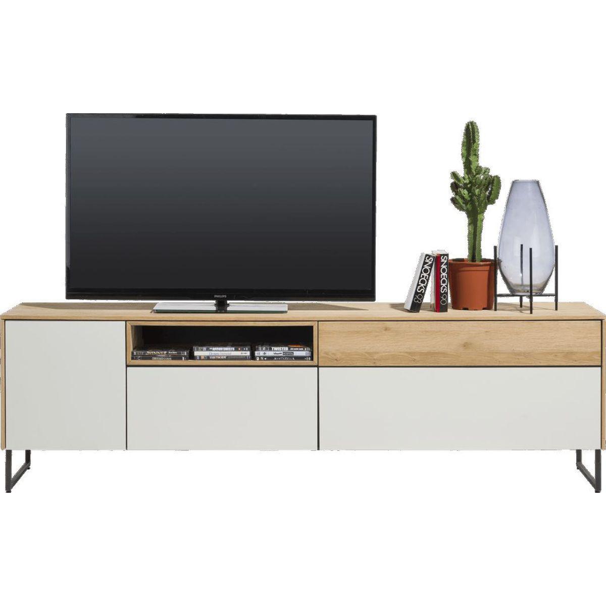Meuble TV DARWIN XOOON 1 porte 3 tiroirs 1 niche 200 cm