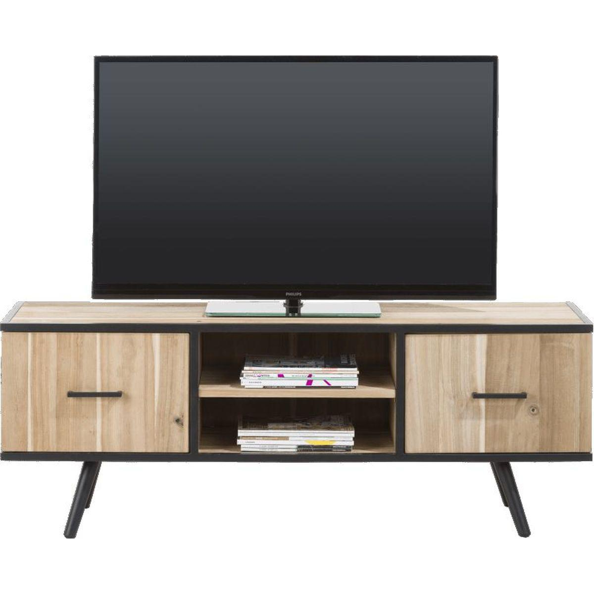 Meuble tv kinna xooon 190cm en bois tramwood abitare living for Meuble xooon occasion