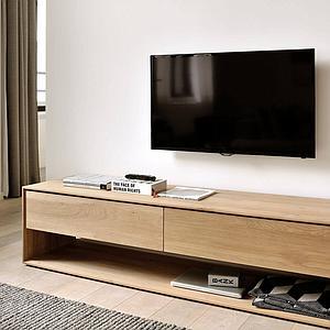 acheter populaire c9915 53b87 Meuble Tv NORDIC Ethnicraft 180cm 1 porte rabattante 1 tiroir chêne