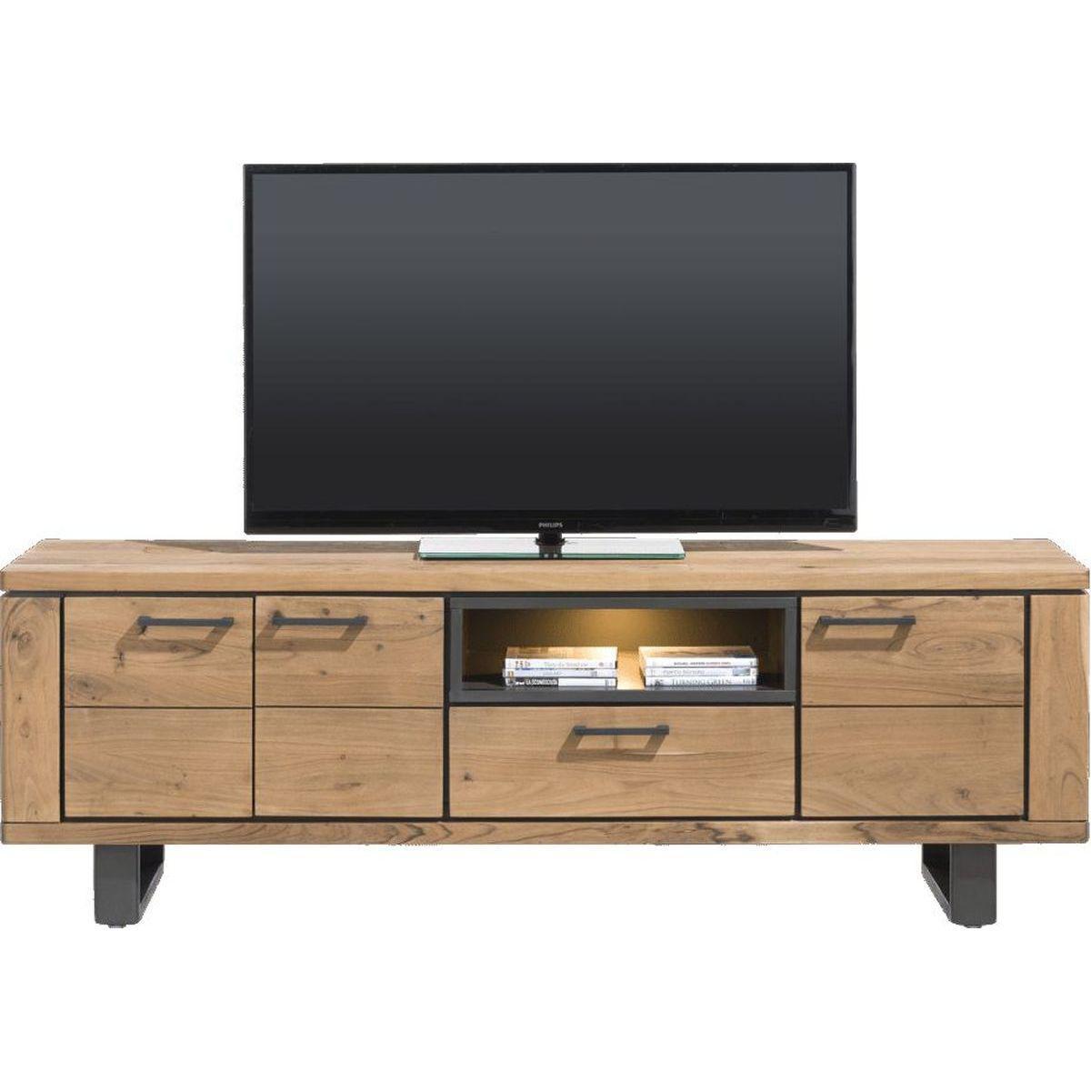 Meuble TV QUEBEC HetH 180cm pieds en métal
