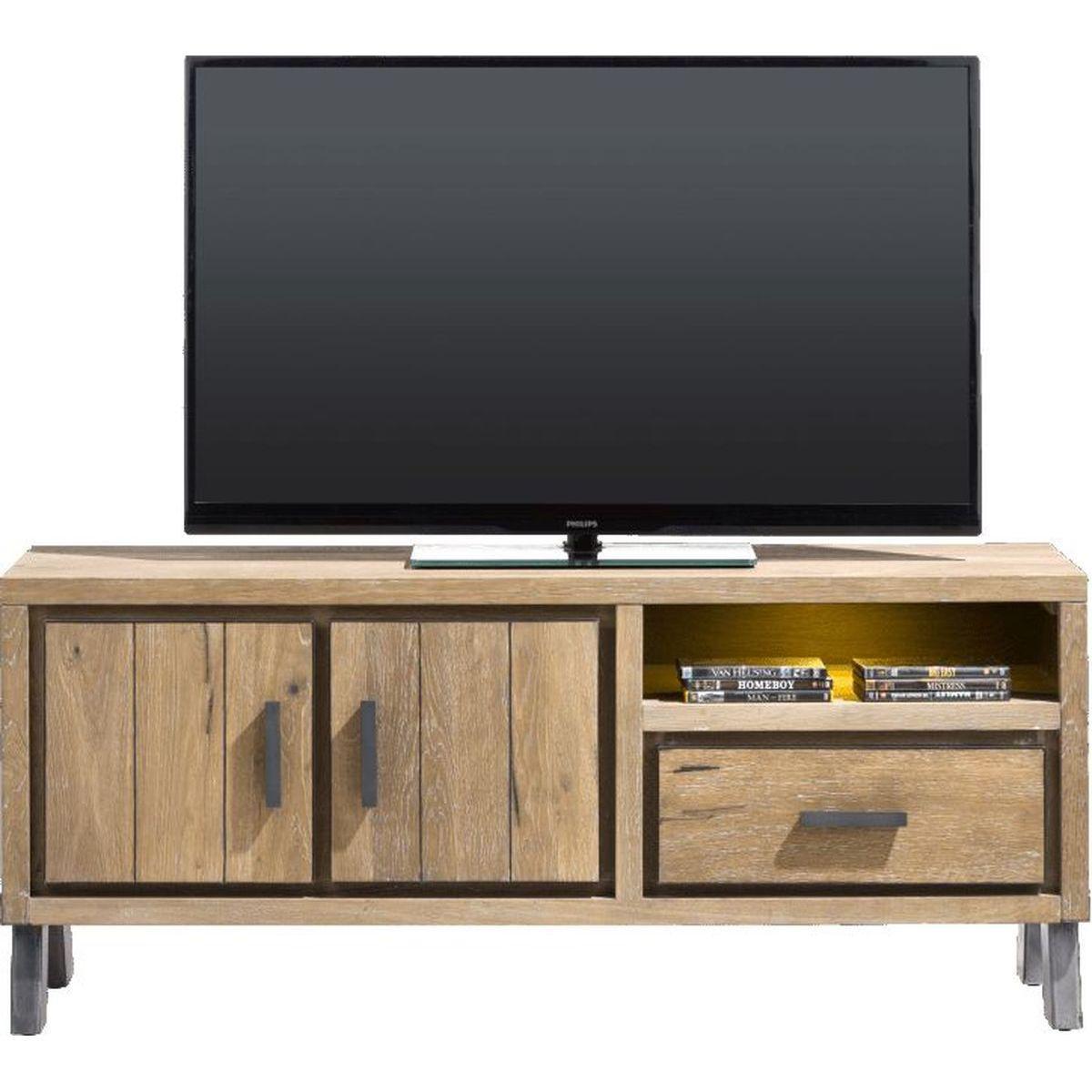 Meuble TV VITORIA HetH 140cm LED