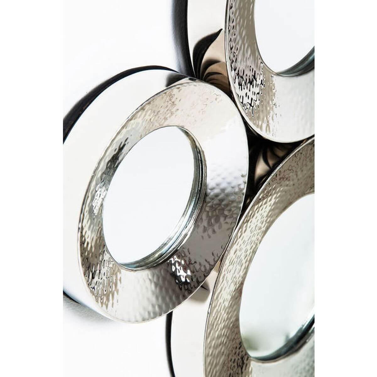 Mirror Circoli Cinque Silver 46x62cm