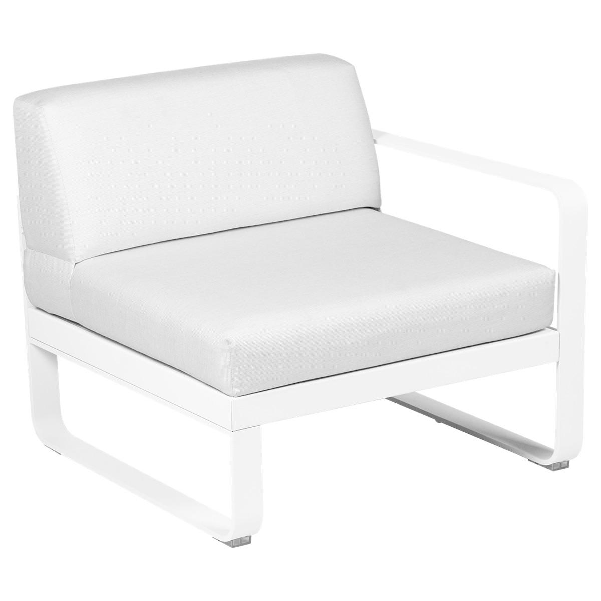 Module droit 1 place BELLEVIE Fermob blanc coton-Blanc grisé