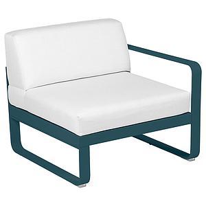 Module droit 1 place BELLEVIE Fermob bleu lagune-Blanc grisé