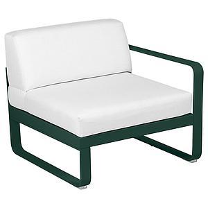Module droit 1 place BELLEVIE Fermob vert cèdre-Blanc grisé