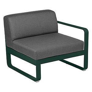Module droit 1 place BELLEVIE Fermob vert cèdre-Gris graphite
