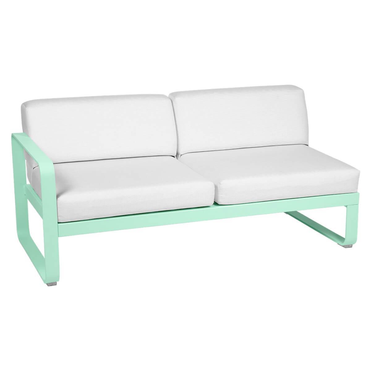 Module gauche 2 places BELLEVIE Fermob vert opaline-Blanc grisé