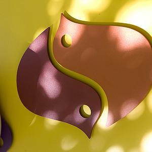 OISEAUX  by Fermob by Fermob Dessous de plat piment/paprika