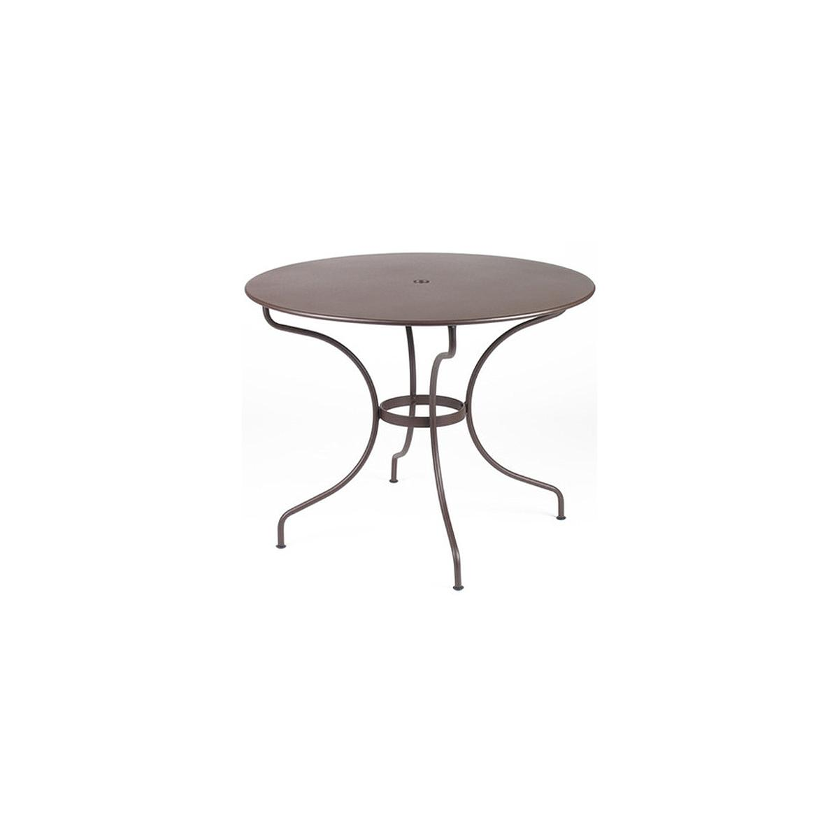 OPERA by Fermob Table ronde 96cm Brun rouille