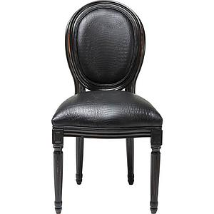 Padded Chair Gastro Louis Black Croco