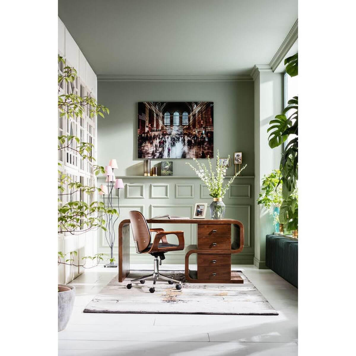 PATRON by Kare Chaise de bureau à roulettes bois noyer