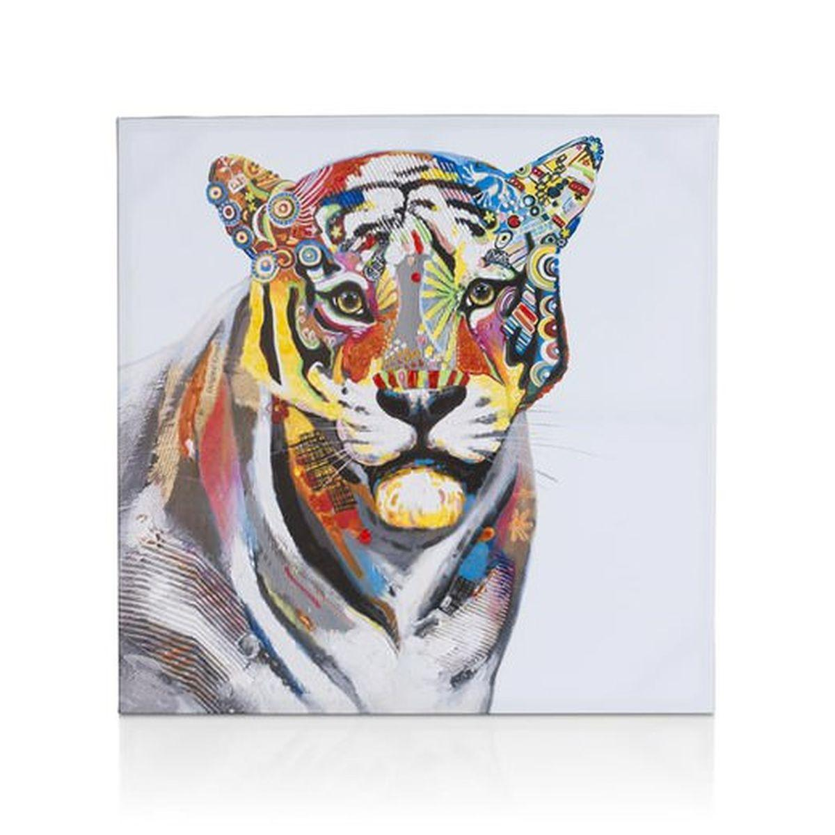 Peinture 75x75cm TIGRESS Coco Maison