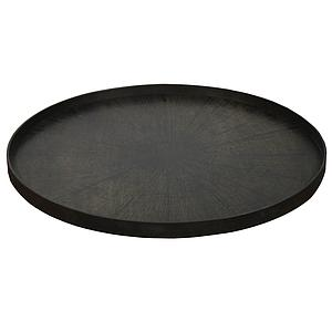 Plateau rond 92cm XL CLASSICS Ethnicraft Black Slice wooden