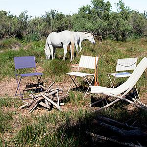 PLEIN AIR by Fermob Chaise pliante Gris Orage