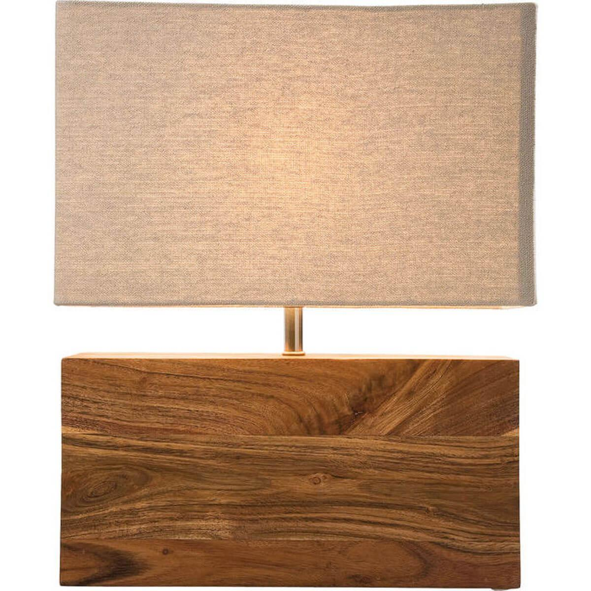RECTANGULAR Wood by Kare Lampe à poser