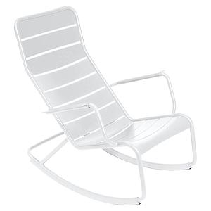 Rocking chair LUXEMBOURG Fermob Blanc coton