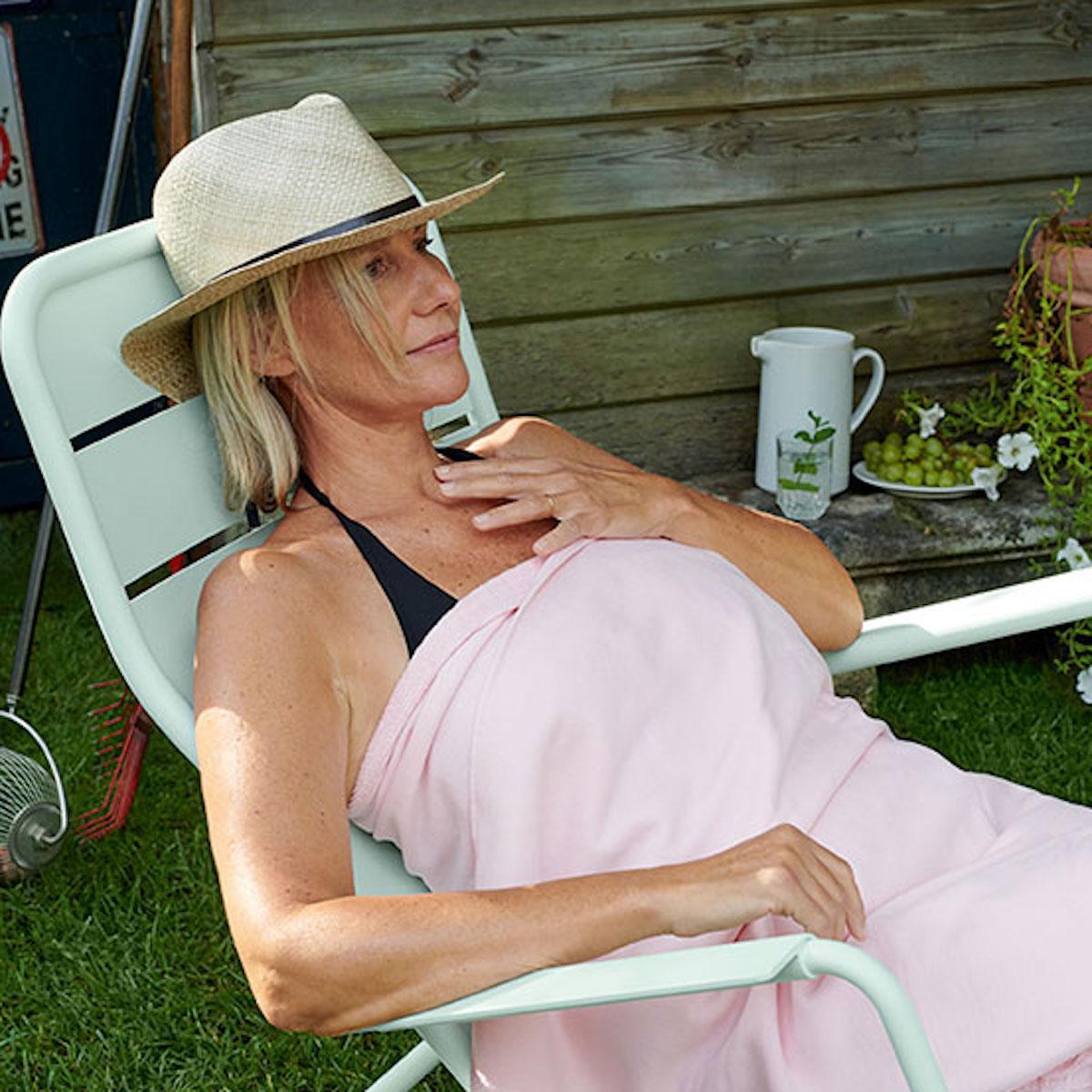Rocking chair LUXEMBOURG Fermob Bleu Lagune